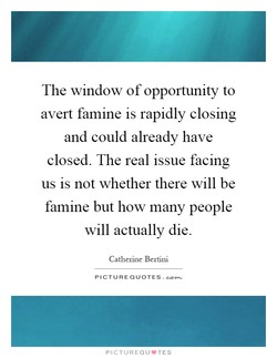 The window of opportunity to 