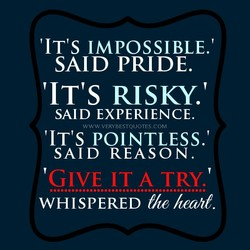 IT's IMPOSSIBLE.' 