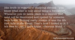 (the truth in regards to studying abroadl