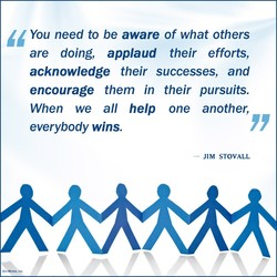 You need to be aware of what others 