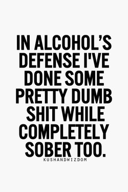 IN ALCOHOL'S 