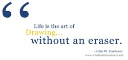 Life is the art of 