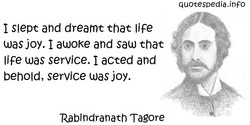 I Slept and dreamt that life 