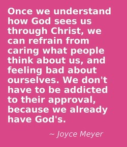 Once we understand 