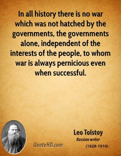 In all history there is no war 
