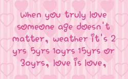 When you truly love 