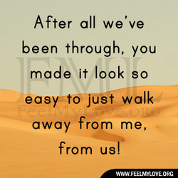 After all we've 