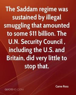 The Saddam regime was 