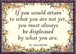 If you would attain 