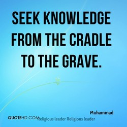 SEEK KNOWLEDGE 