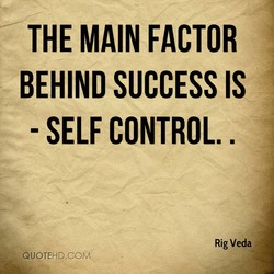 THE MAIN FACTOR 
