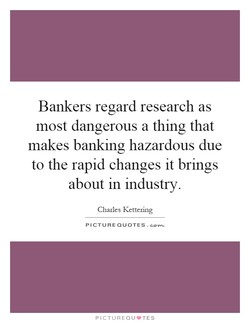 Bankers regard research as 