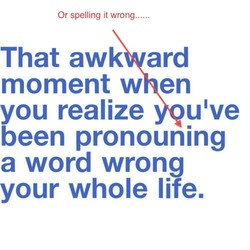 Or spelling it wrong...... 