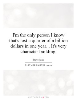 I'm the only person I know 