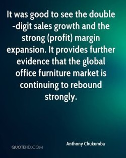 It was good to see the double 