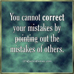 You cannot correct 