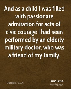 And as a child I was filled 