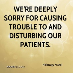 WE'RE DEEPLY