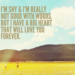 I'M SHY & I'M REALLY 