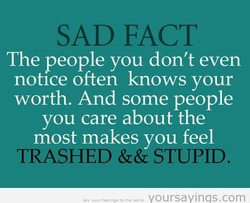 SAD FACT 