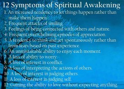 12 Symptomy oftSpiritual Awakening 