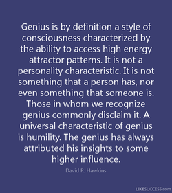 Genius is by definition a style of 