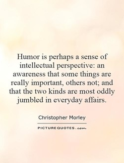 Humor is perhaps a sense of 