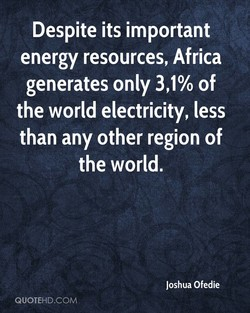 Despite its important 