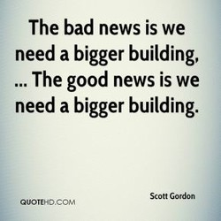 The bad news is we 