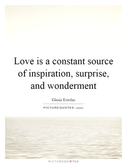 Love is a constant source 