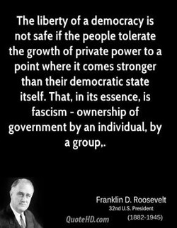 The liberty of a democracy is 