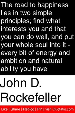The road to happiness 