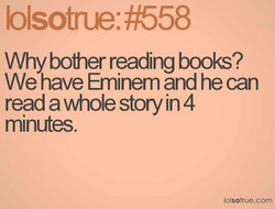 Why bother reading books? 