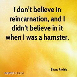 I don't believe in 