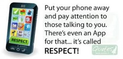 Put your phone away 