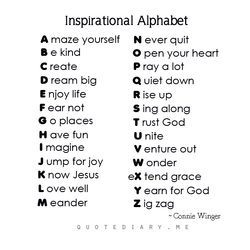 Inspirational Alphabet 