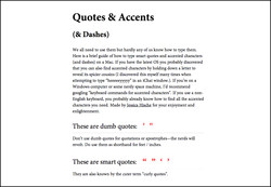 Quotes & Accents 