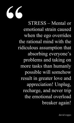 STRESS - Mental or 