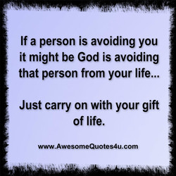 If a person is avoiding you 