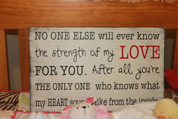 NO ONE ELSE will ever know 