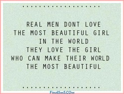 REAL MEN DONT LOVE 