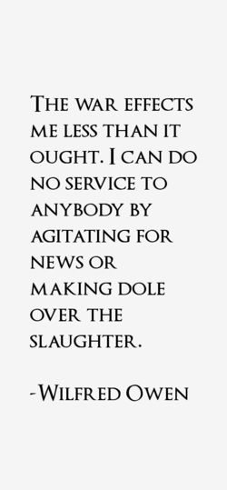 THE WAR EFFECTS 