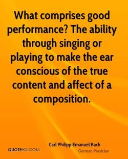 What comprises good 
