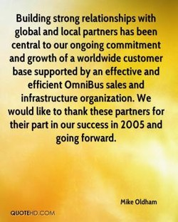 Building strong relationships with 