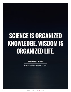SCIENCE IS ORGANIZED 