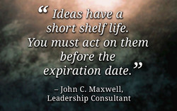 Ideas have tin 