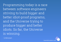 Programming today is a race 