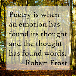I poetry is when 