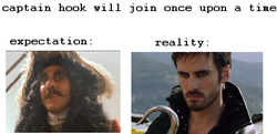 captain hook will join once upon a time 