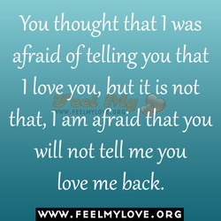 You thought that I was 